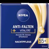 Bild: NIVEA Anti-Falten + Vitalität Nachtplfege 55+