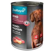 Bild: ZooRoyal Nassfutter Mono-Protein Rind mit Kartoffeln, Möhren & Distelöl