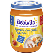 Bild: Bebivita Gemüse-Spaghetti mit Pute