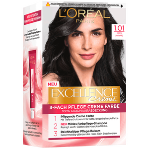 Bild: L'ORÉAL PARIS Excellence Creme-Coloration tiefes schwarz