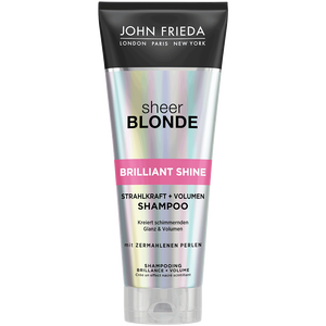 Bild: JOHN FRIEDA Sheer Blonde Brillant Shine Strahlkraft und Volumen Shampoo