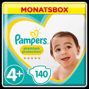 Bild: Pampers Premium Protection Gr.4+ Maxi Plus 10-15kg Monatsbox