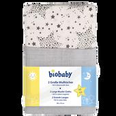 Bild: biobaby Große Mulltücher Set grau