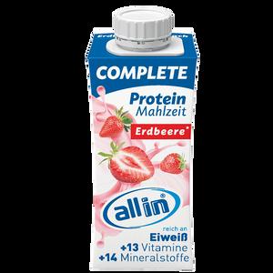 Bild: allin Complete Protein Mahlzeit Erdbeere