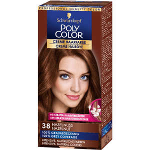 Bild: Schwarzkopf POLY COLOR Creme Haarfarbe haselnuss