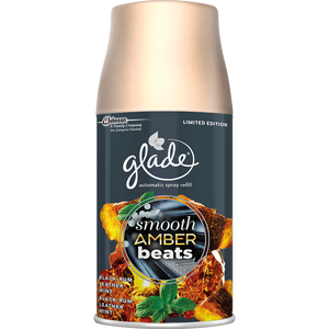 Bild: Glade Automatic Spray Smooth Amber Beats Limited Edition Nachfüllung