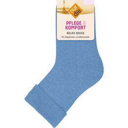 Bild: nur die Damen Pflege & Komfort Relax Socken azur
