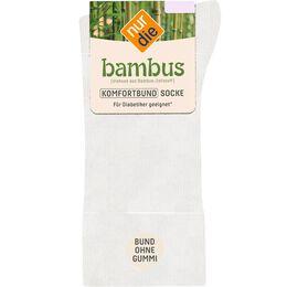 Bild: nur die Damen Bambus Komfort Socken weiß