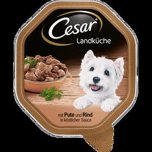 Bild: Cesar Landküche mit Pute und Rind in köstlicher Sauce