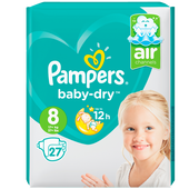 Bild: Pampers Baby-Dry Gr. 8 (17+kg) Value Pack