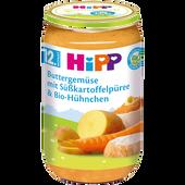 Bild: HiPP Buttergemüse mit Süßkartoffelpüree & Bio-Hühnchen