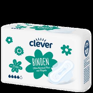 Bild: clever Binden Ultra Normal Plus mit Flüglen
