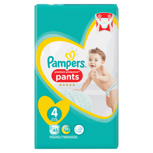 Bild: Pampers Premium Protection Pants Gr. 4 (9-15kg) Jumbo Pack