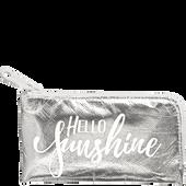 Bild: LOOK BY BIPA Hello Sunshine Kosmetiktasche XS Silber
