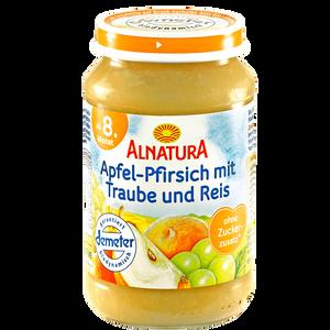 Bild: ALNATURA Apfel-Pfirsich mit Traube und Reis