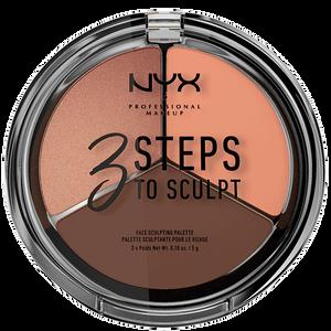 Bild: NYX Professional Make-up 3 Steps to Sculpt Sculpting Palette deep