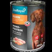Bild: ZooRoyal Nassfutter Mono-Protein Huhn mit Zucchini, Möhren & Distelöl