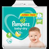 Bild: Pampers Baby-Dry Gr. 4 (9-14kg) Jumbo+ Pack