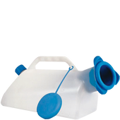 Bild: Urinflasche für Männer mit Rückflussschutz