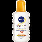 Bild: NIVEA Sun Kids Schutz & Sensitiv Sonnenspray LSF 50+