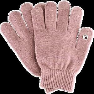 Bild: LOOK BY BIPA Smartphone Handschuhe rosa mit Lurex