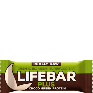 Bild: Lifebar Plus Chocolate Green Protein