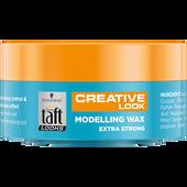 Bild: Schwarzkopf 3 WETTER taft LOOKS Creative Look Modelling Wax extra strong