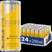 Bild: Red Bull Yellow Edition Tropical Energy Drink 24er Palette