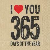 Bild: Paper + Design Valentinstag Servietten I love you 365