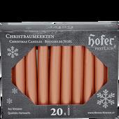 Bild: Hofer Christbaumkerzen roségold
