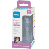 Bild: MAM Easy Start Anti-Colic 160ml Time for Love - Babyflasche Grau