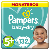 Bild: Pampers Baby Dry Gr.5+ Junior Plus 12-17kg MonatsBox