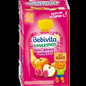 Bild: Bebivita Kinderspaß Apfel/Banane/Himbeere mit Keks