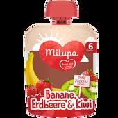 Bild: Milupa Quetschbeutel Banane, Erdbeere & Kiwi