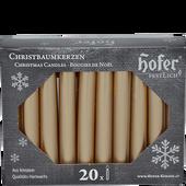 Bild: Hofer Christbaumkerzen silver-gold
