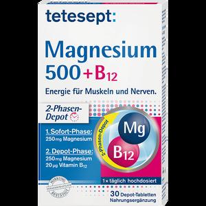 Bild: tetesept: Magnesium 500+ B12 Depot-Tabletten