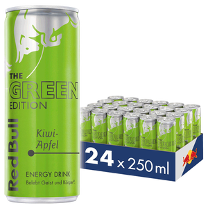 Bild: Red Bull Energy Drink Green Edition Kiwi Apfel 24er Palette