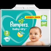 Bild: Pampers Baby-Dry Gr. 3 (6-10kg) Jumbo+ Pack