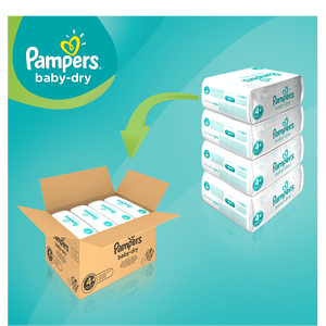 Bild: Pampers Baby Dry Gr.4+ Maxi Plus 10-15kg MonatsBox