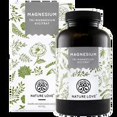 Bild: NATURE LOVE Magnesium (Tri-Magnesium Dicitrat) Kapseln