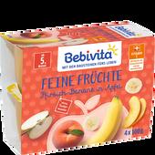 Bild: Bebivita Pfirsich-Banane in Apfel Becher