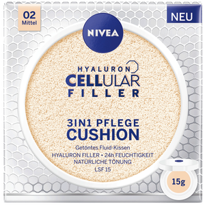 Bild: NIVEA Hyaluron Cellular Filler 3in1 Pflege Cushion mittel