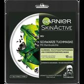 Bild: GARNIER SKIN ACTIVE Schwarze Tuchmaske mit Bambuskohle