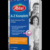 Bild: Abtei A-Z Komplett Multi-Vitamine Plus Ginkgo Tabletten