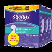 Bild: always Fresh & Protect Slipeinlagen Normal Trio Pack