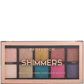 Bild: profusion cosmetics Shimmers 10 Shade Eyeshadow Palette