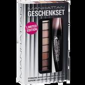 Bild: MANHATTAN Lash Volume Colourist Mascara + Eyemazing Nudes Eyeshadow Palette 100