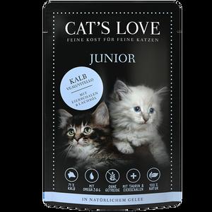 Bild: CAT´S LOVE Junior Kalb Katzenfutter