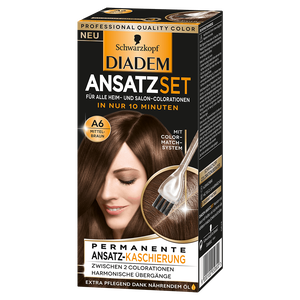 Bild: Schwarzkopf DIADEM Ansatzset mittelbraun