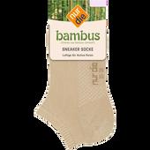 Bild: nur die Damen Bambus Air Comfort Sneaker Socken leinen